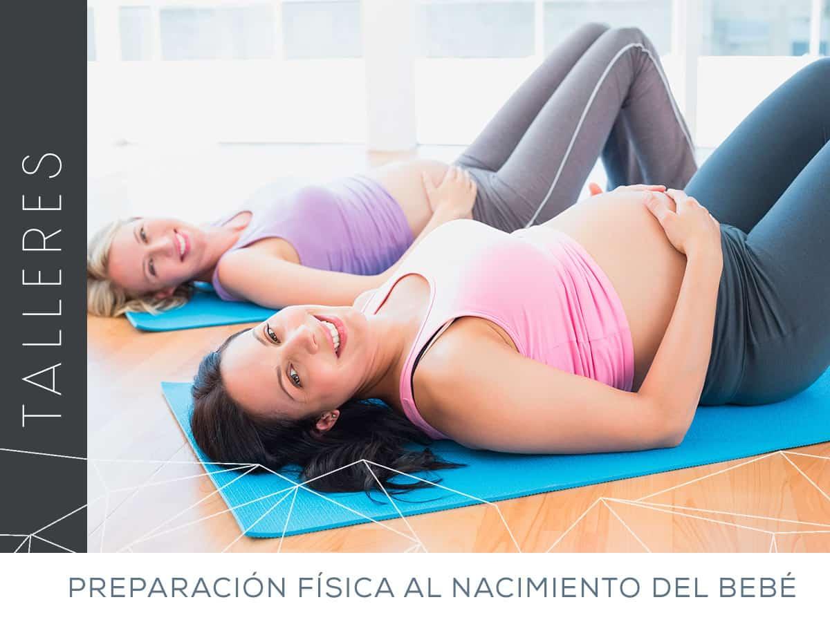 Taller de ejercicios de preparación física al nacimiento del bebé